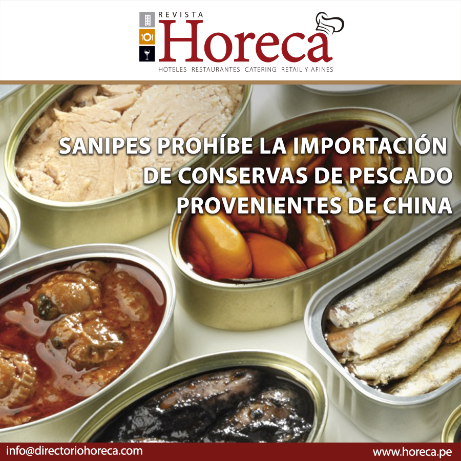 Conservas chinas prohibidas por Sanipes